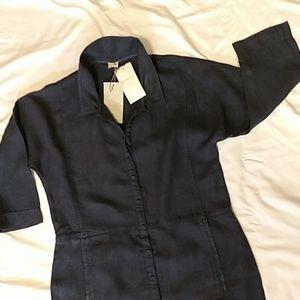 Poetry NWT Linen Indigo Maxi Dress, sz 10